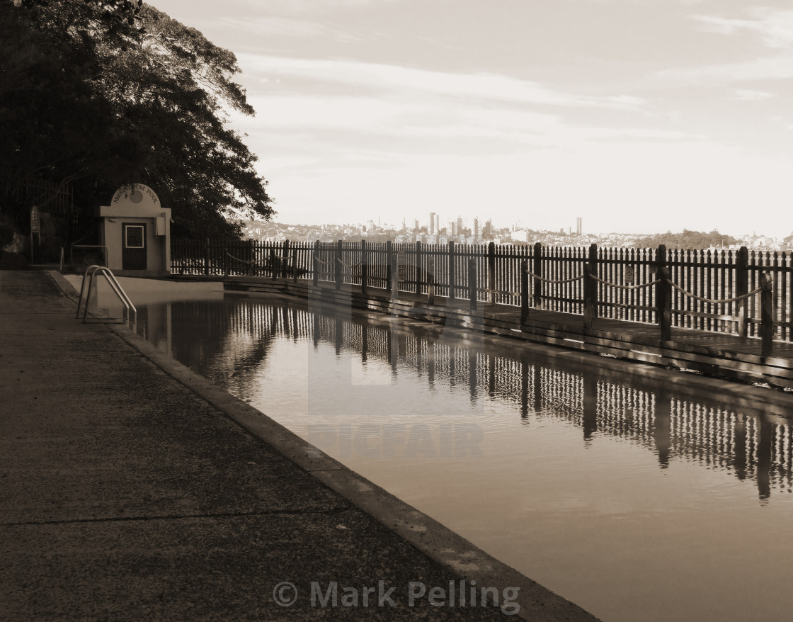 """Maccallum Pool, Cremorne Point, Sydney No.2"" stock image"