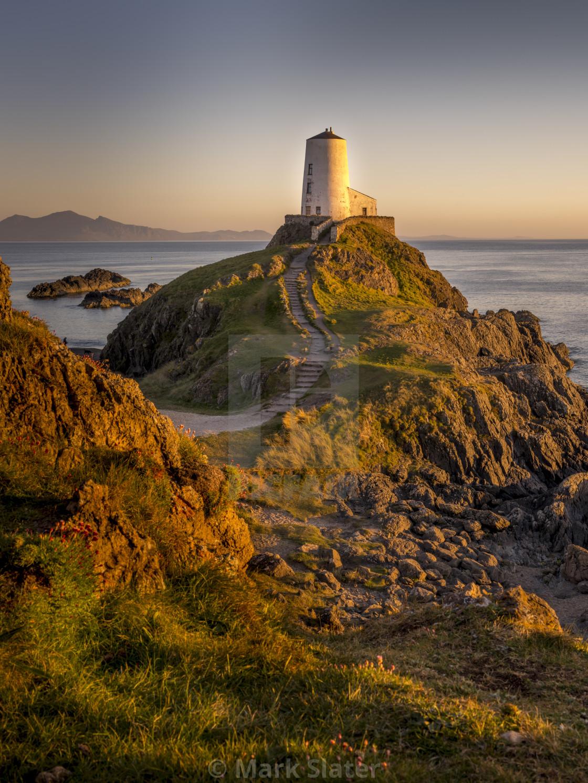 """Sunset Over Goleudy Tŵr Mawr"" stock image"