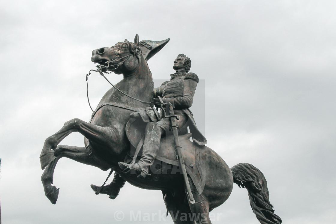 """""""Andrew Jackson Statue"""" stock image"""