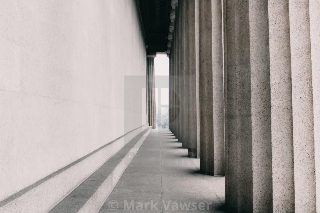 """""""Parthenon Pillars"""" stock image"""