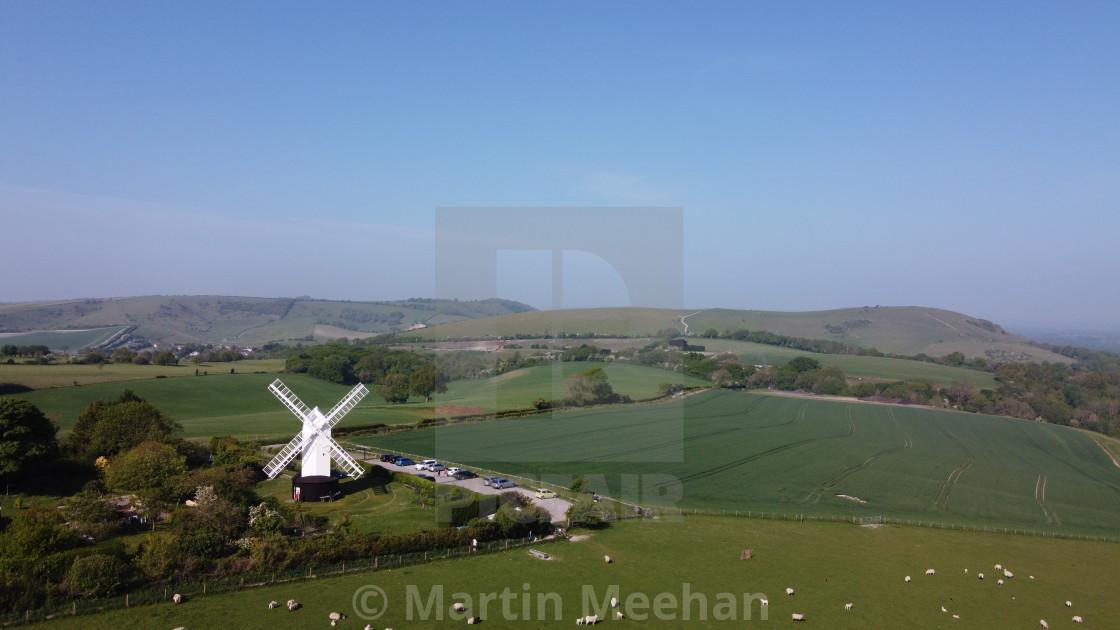 """Jill windmill on Clayton Hill Sussex."" stock image"