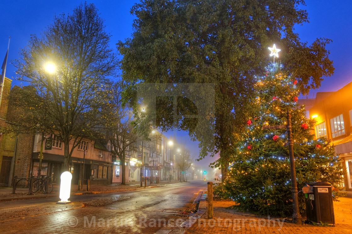 """Berkhamsted Christmas Tree"" stock image"