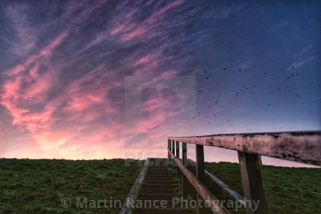"""""""Steps to the sunrise"""" stock image"""