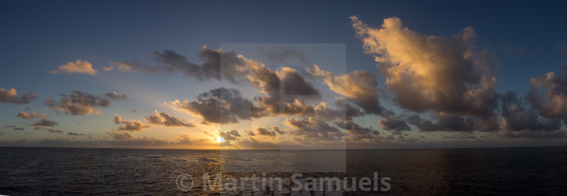 """Sunrise over the Great Barrier Reef"" stock image"