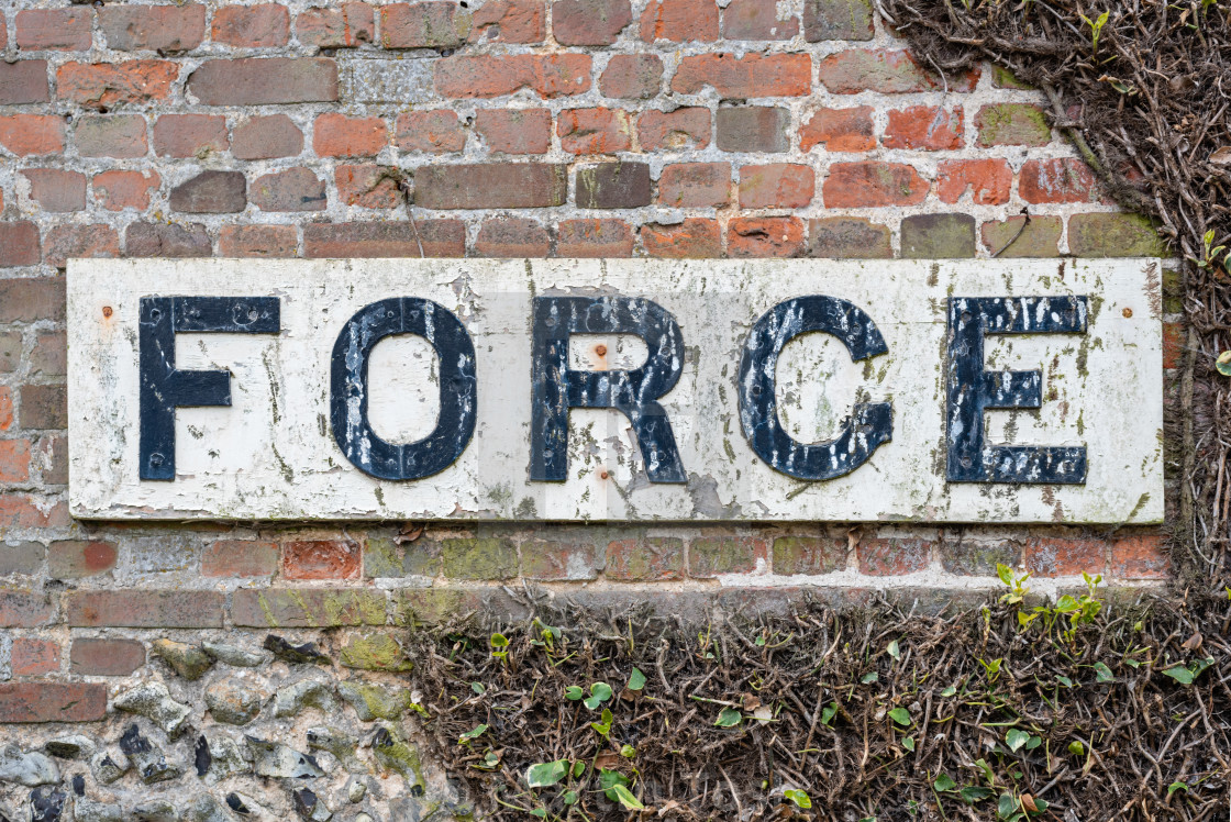 Forge Sign On Old Brick And Flint Building License Download Or Print For 12 40 Photos Picfair