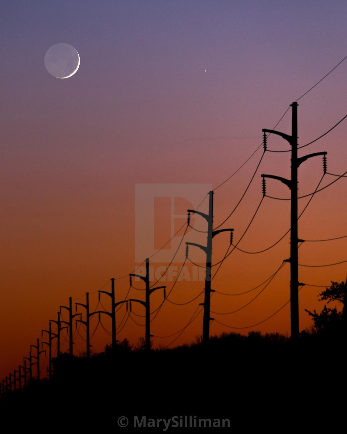 """Twilight Moon Set"" stock image"