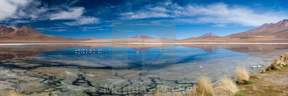 """""""Laguna Hedionda Panorama"""" stock image"""