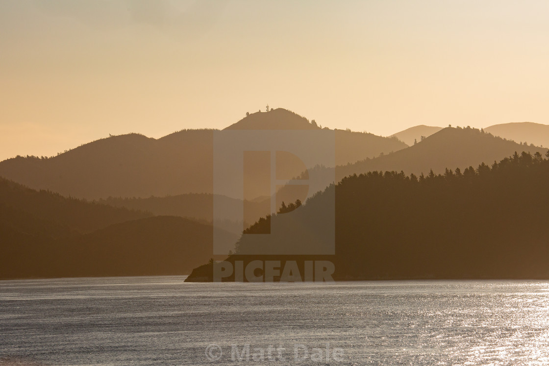 """""""Silhouette of Hills"""" stock image"""