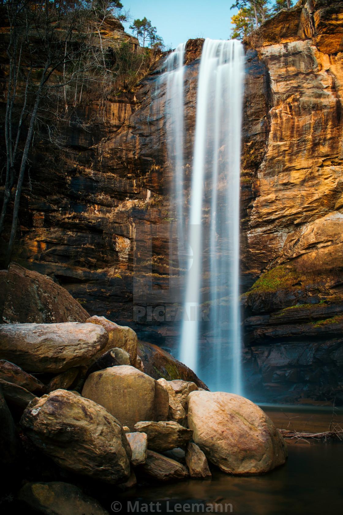 """Roaring Waterfall"" stock image"