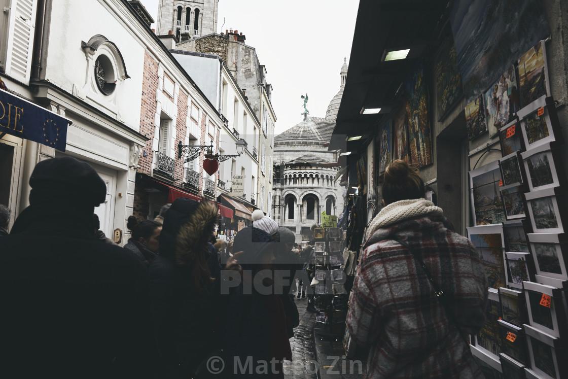"""Le sacre coeur people"" stock image"
