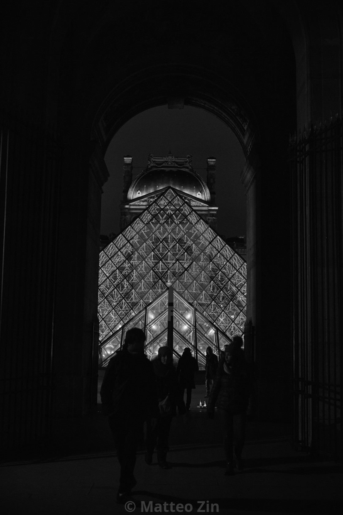 """Louvre black"" stock image"