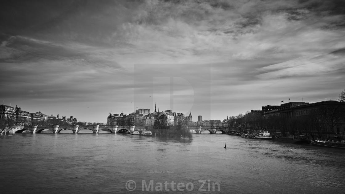 """Paris senna monochrome"" stock image"