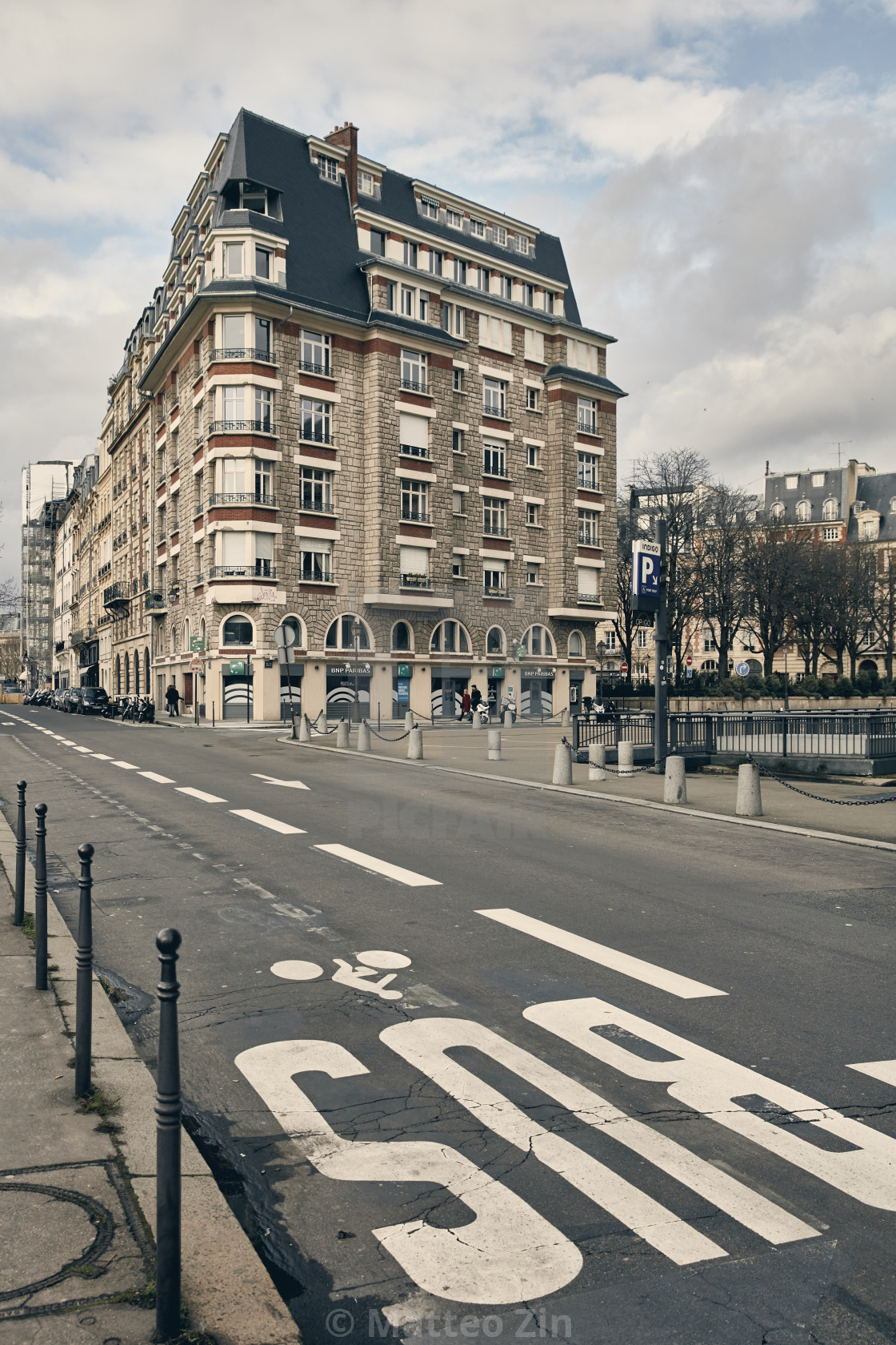"""Paris road without car"" stock image"