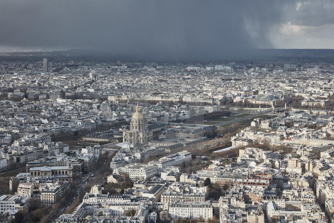 """""""Paris aerial view Pantheon"""" stock image"""