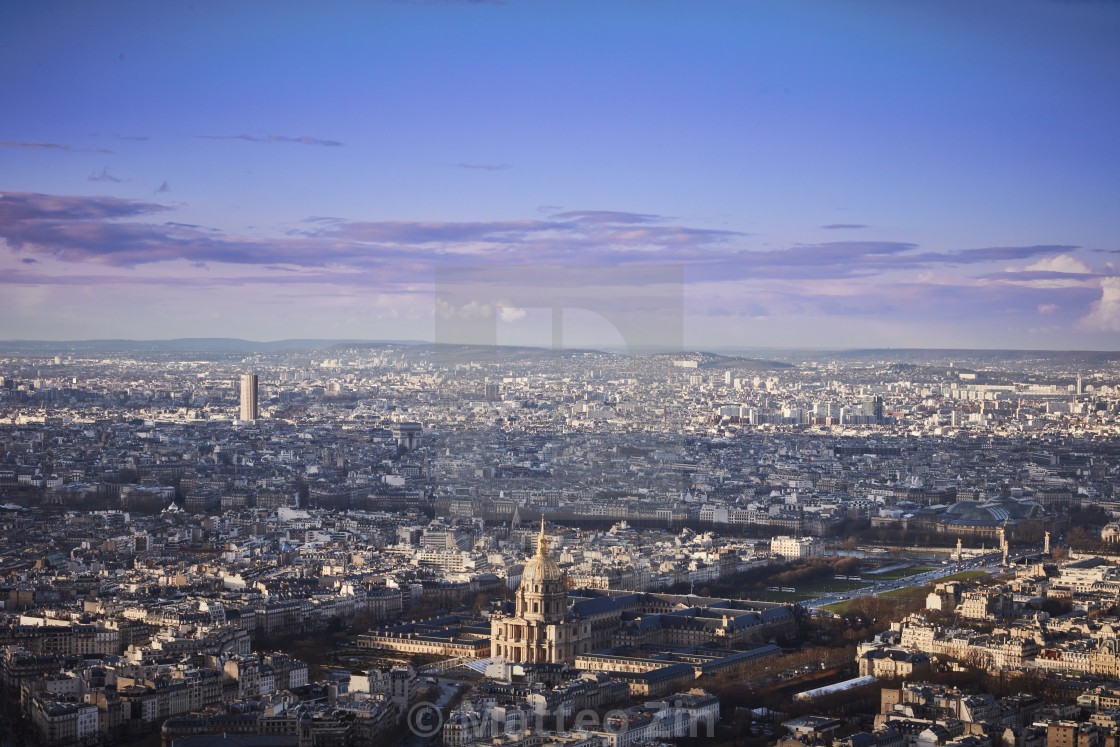 """Paris pantheon aerial view"" stock image"
