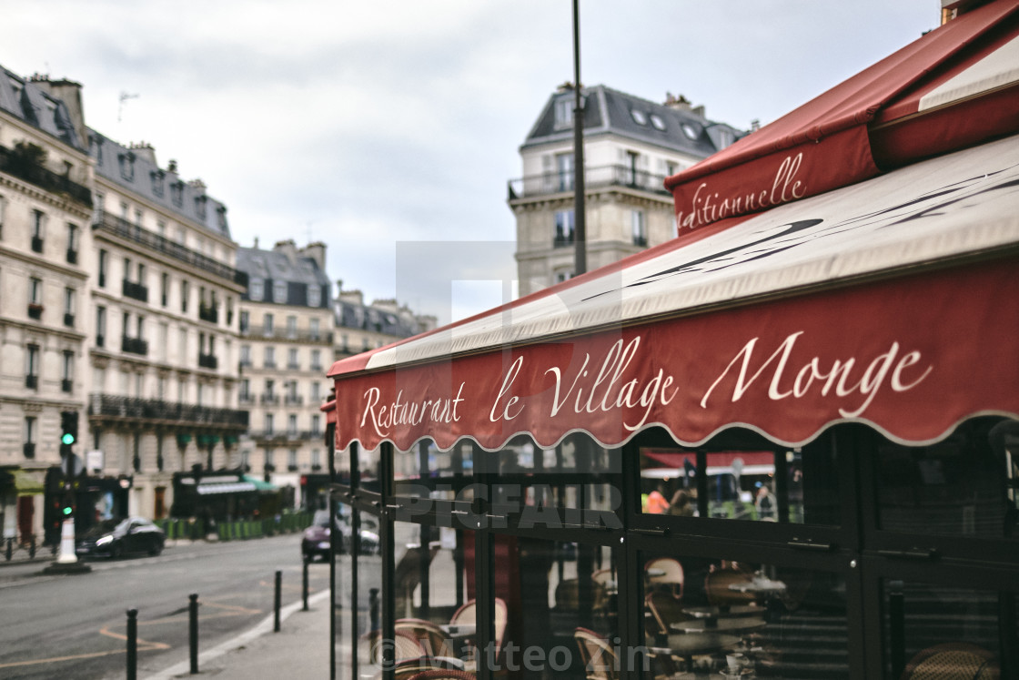 """""""Paris restaurant"""" stock image"""