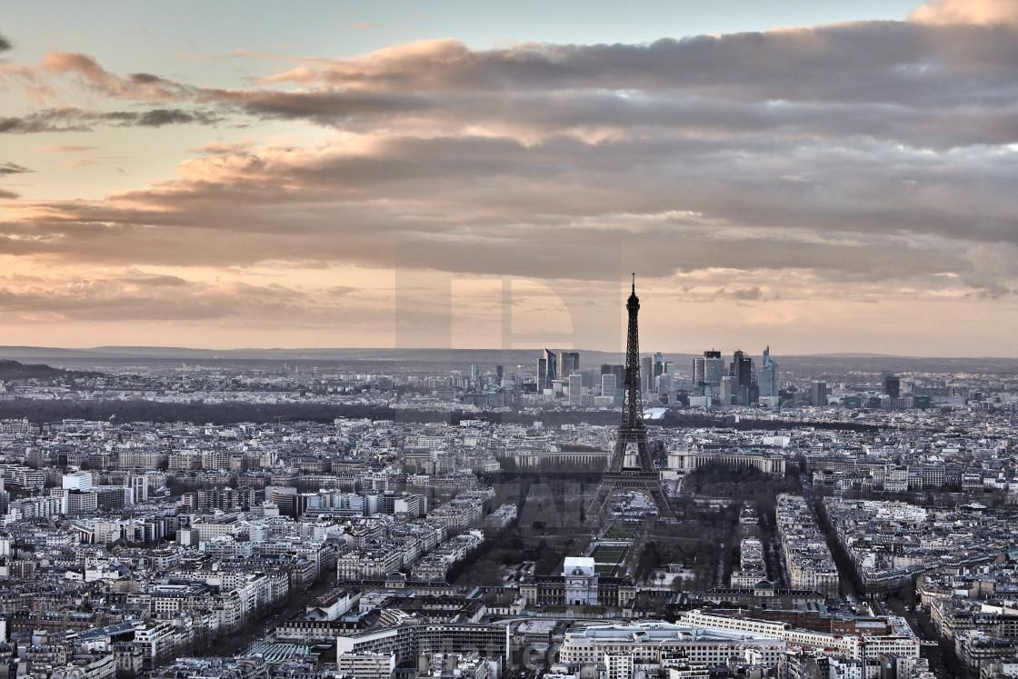 """""""Tour Eiffel aerial view"""" stock image"""