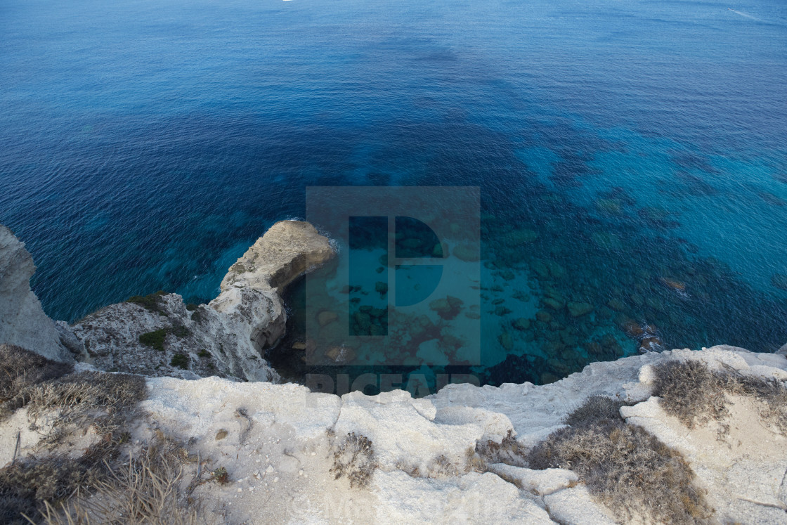 """""""Aerial view of the sea"""" stock image"""