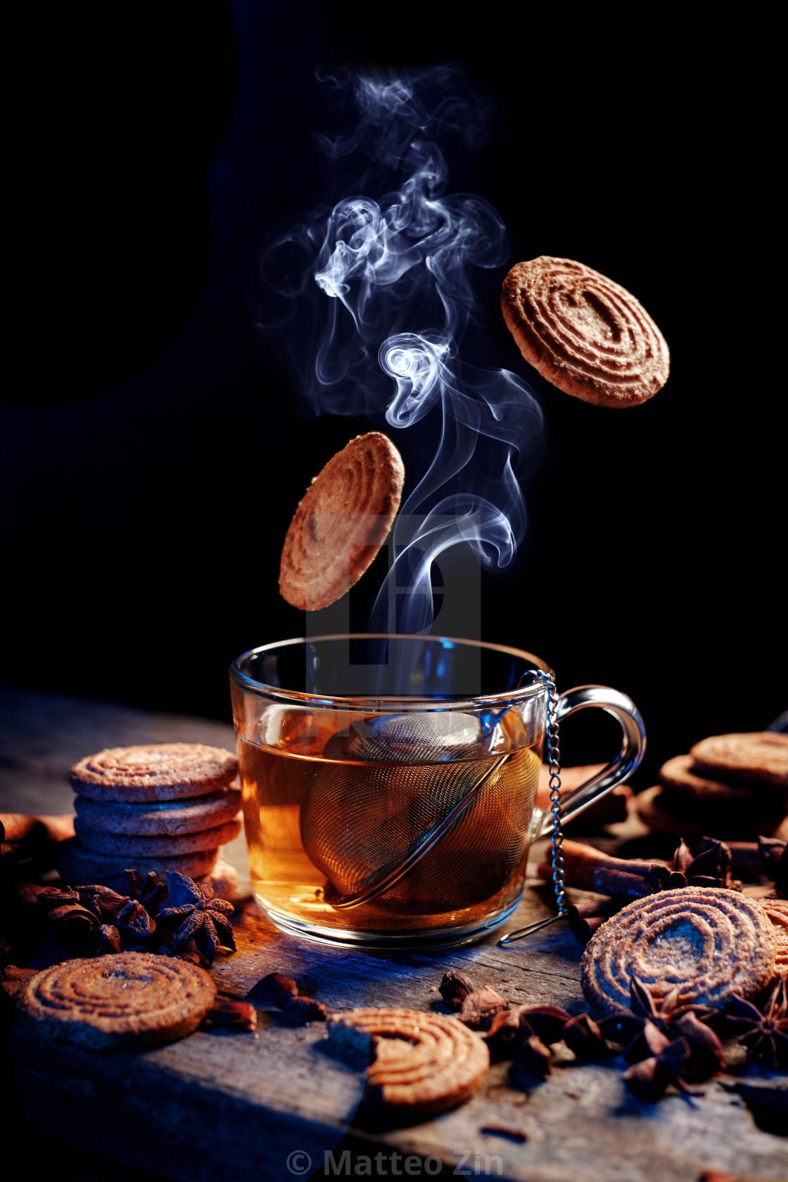 """Autumn light! a cold Tea"" stock image"