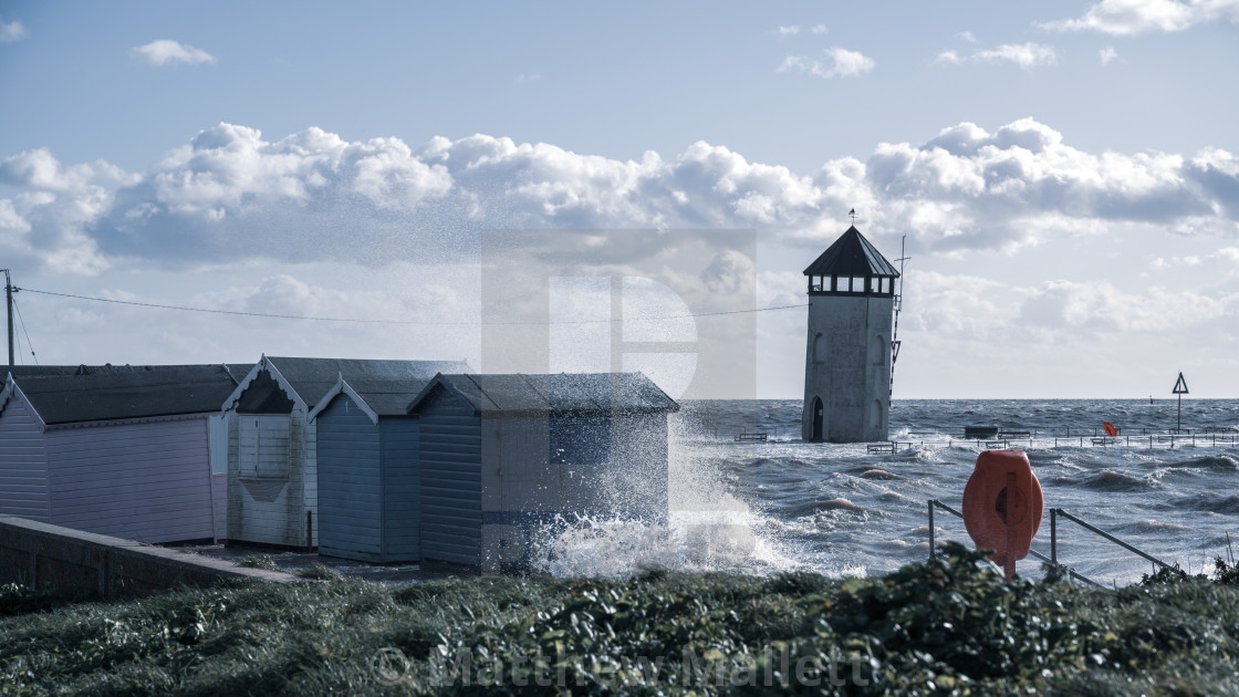 """Brightlingsea Storm"" stock image"