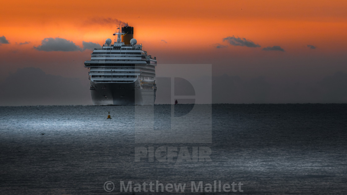 """""""Costa Approaching Harwich"""" stock image"""