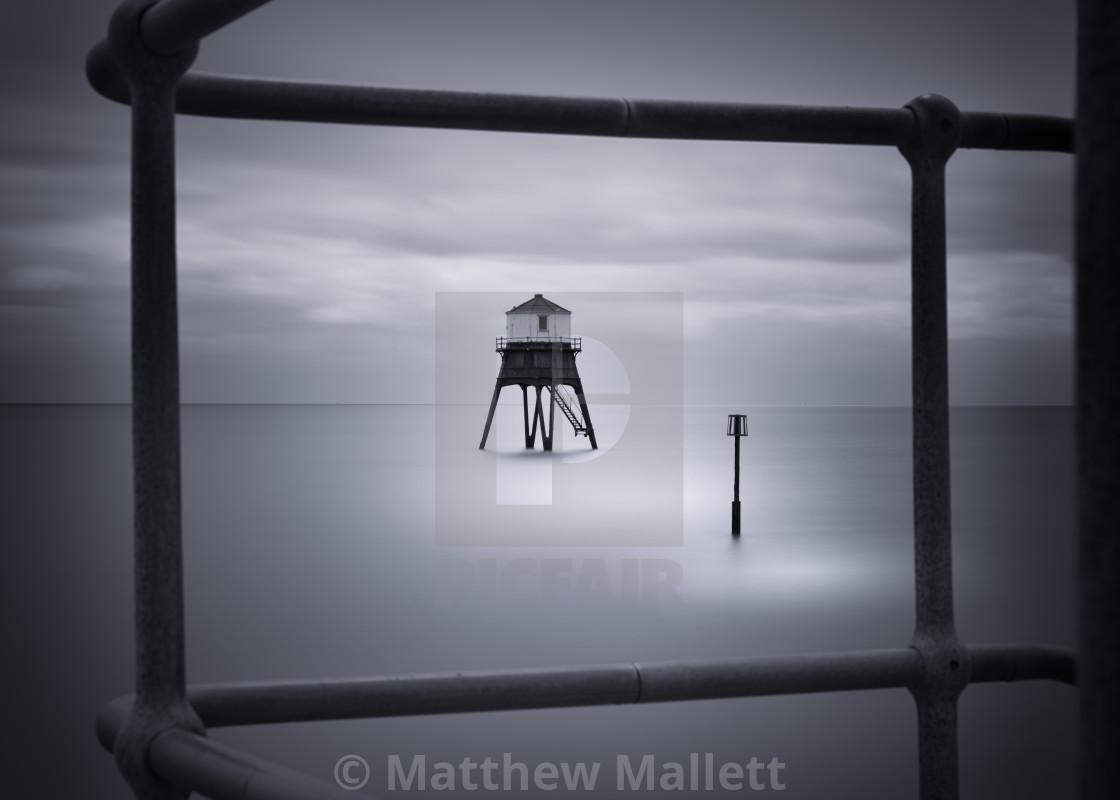 """""""Dovercourt Low Light Framed View"""" stock image"""
