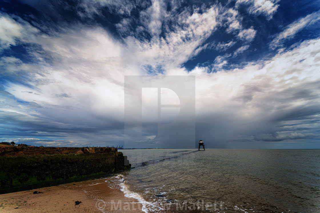 """""""Storms Passing Dovercourt Low Light"""" stock image"""