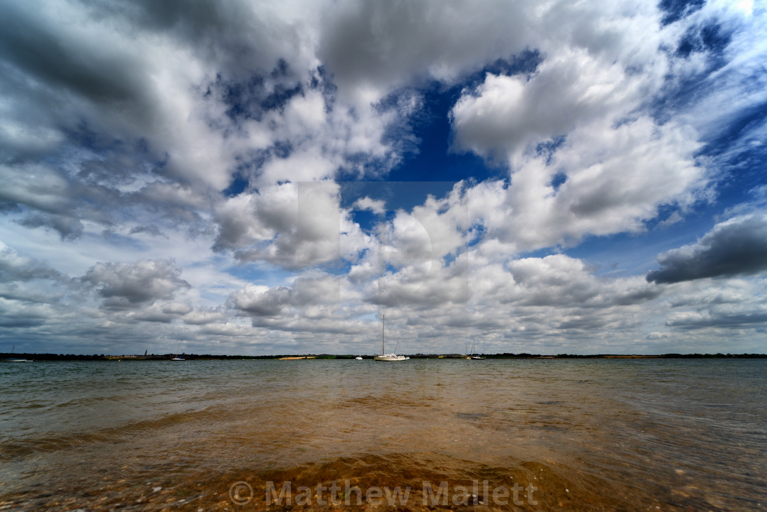 """Wrabness Foreshore High Tide"" stock image"
