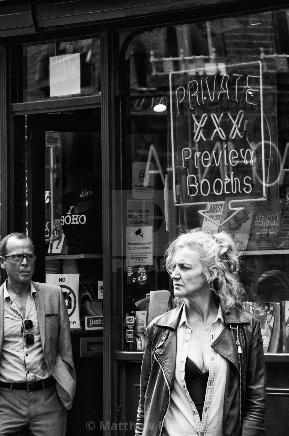 """Soho, London, in Monochrome"" stock image"