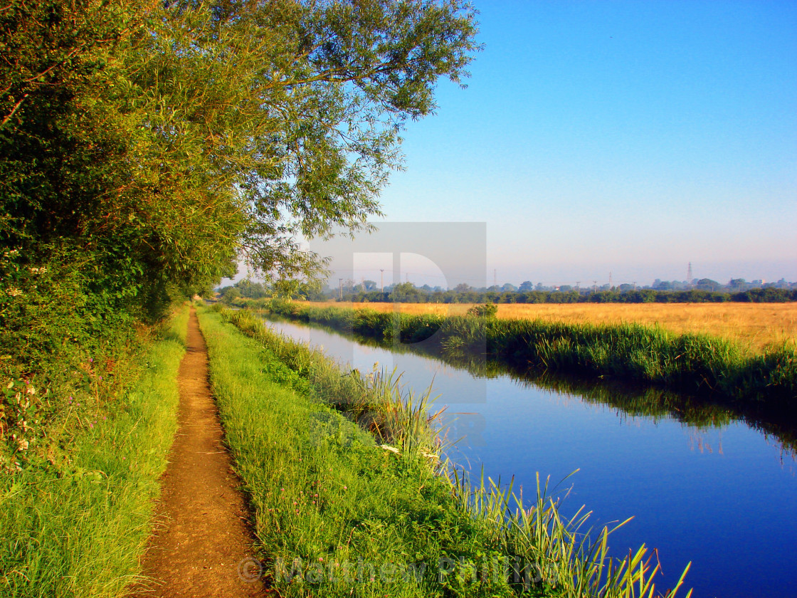 """Aylesbury Arm of the Grand Union Canal"" stock image"