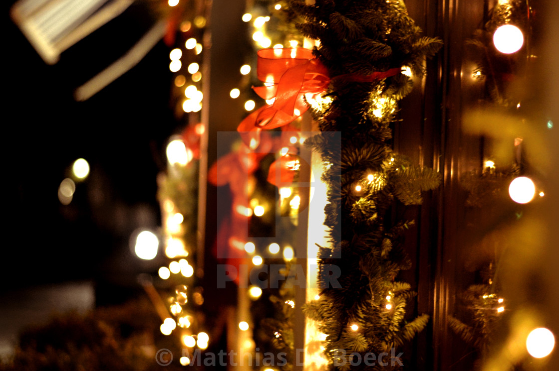 """Christmas in Bruges"" stock image"