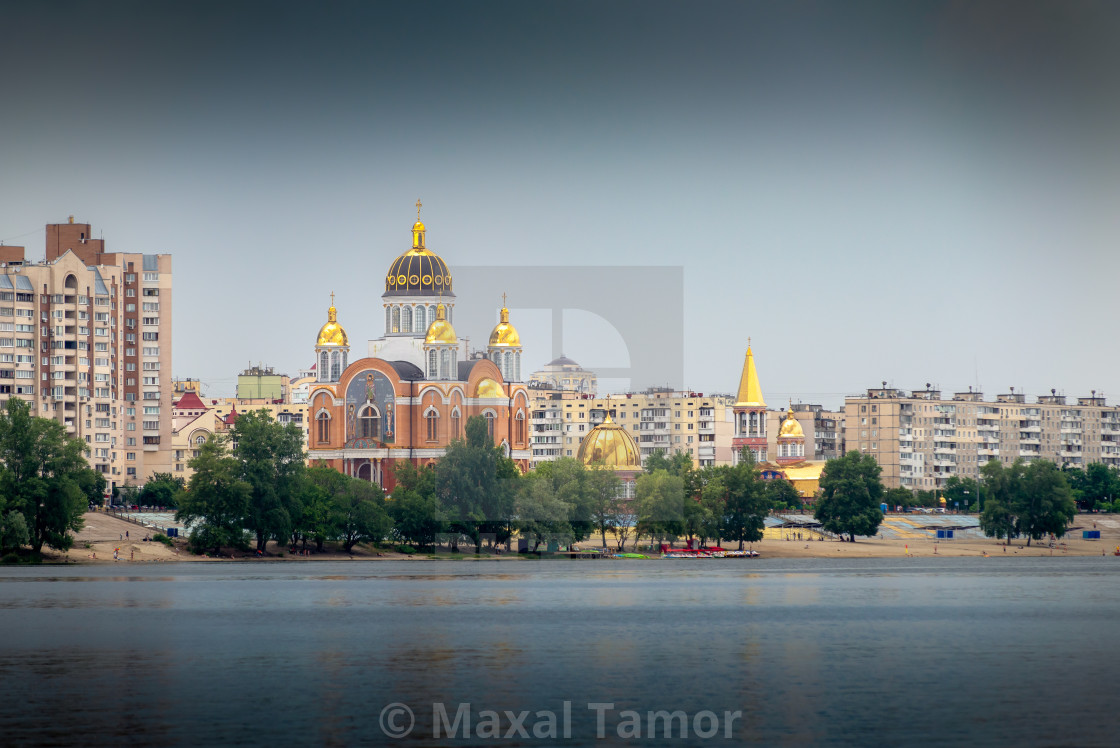 """Cathedral of Intercession of the Mother of God, in Kiev"" stock image"