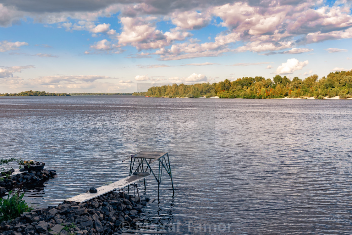 """View of the Dnieper river in Kiev, Ukraine, in the afternoon"" stock image"