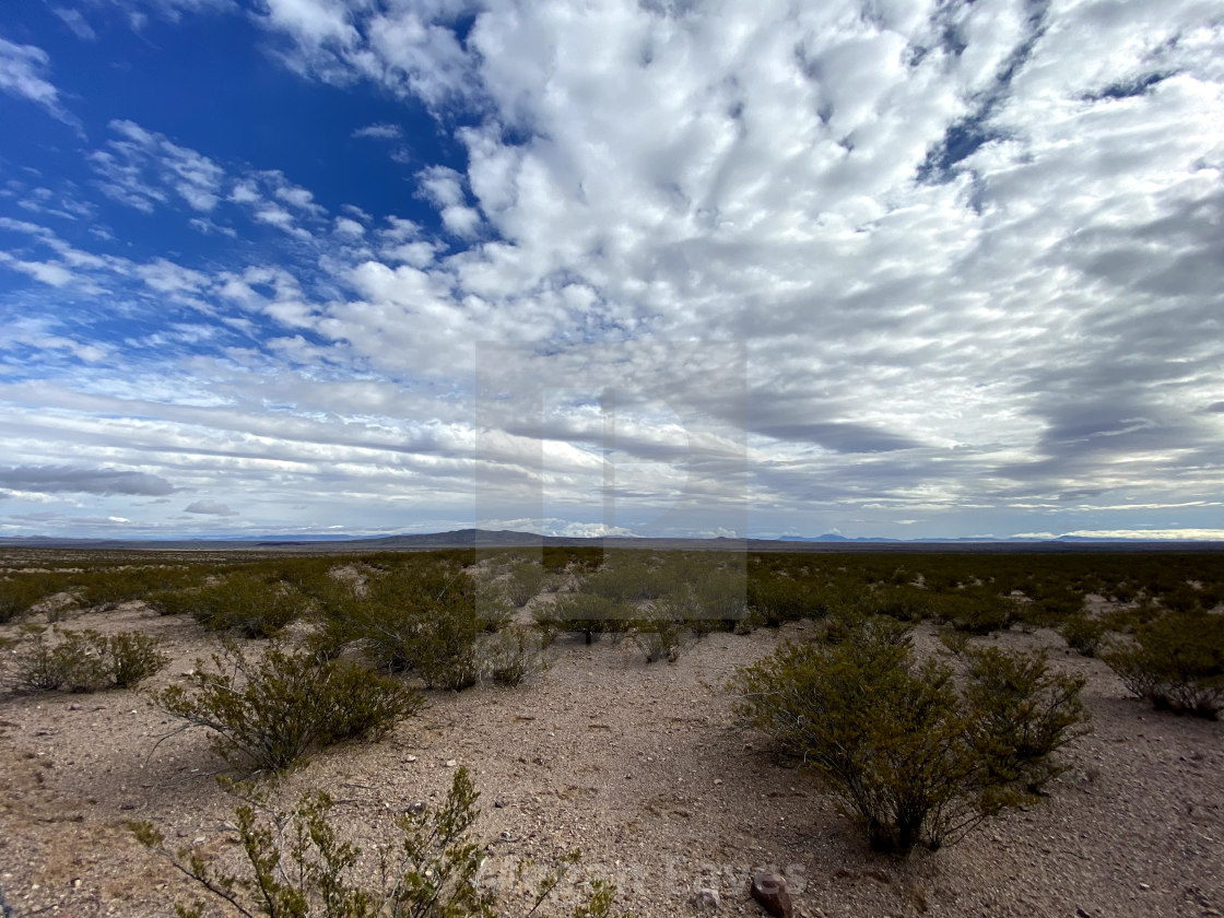 """New Mexico Desert Sky"" stock image"