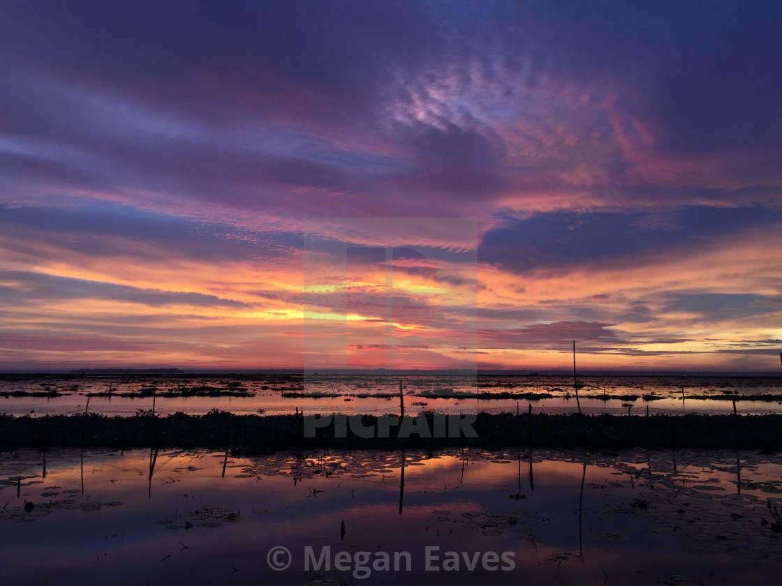 """""""Kerala Backwaters Sunset 2"""" stock image"""
