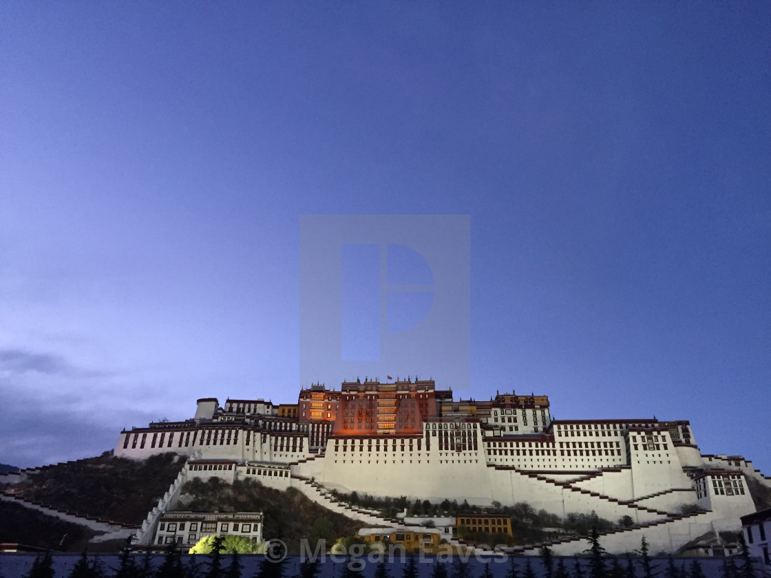 """Potala Blue Hour"" stock image"
