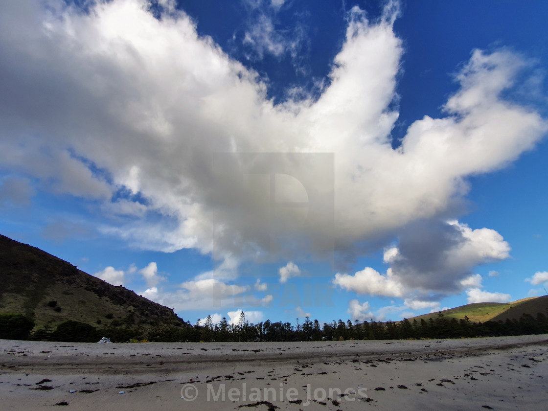 """Clouds over Rapid Bay South Australia"" stock image"