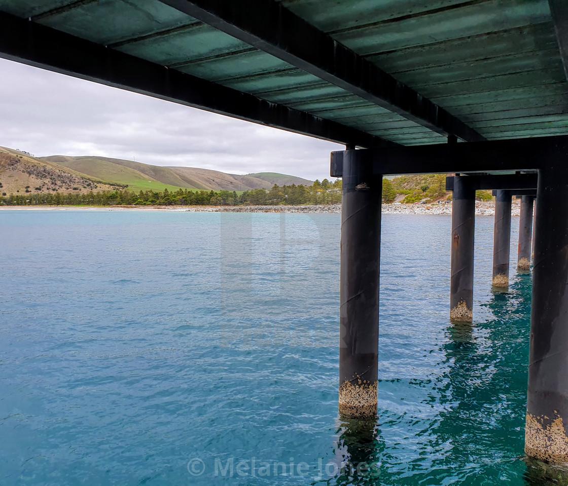 """Rapid Bay jetty"" stock image"