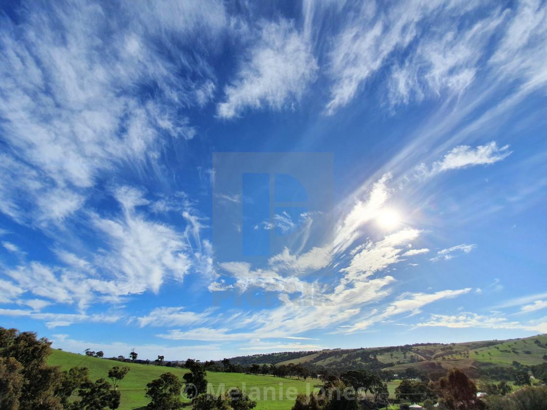 """Big blue sky Autumn Fleurieu Peninsula South Australia"" stock image"