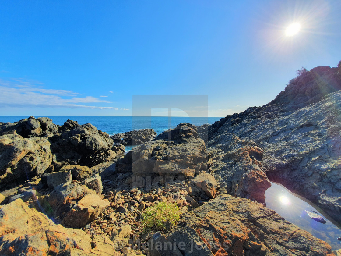 """Suns reflection Carrickalinga South"" stock image"