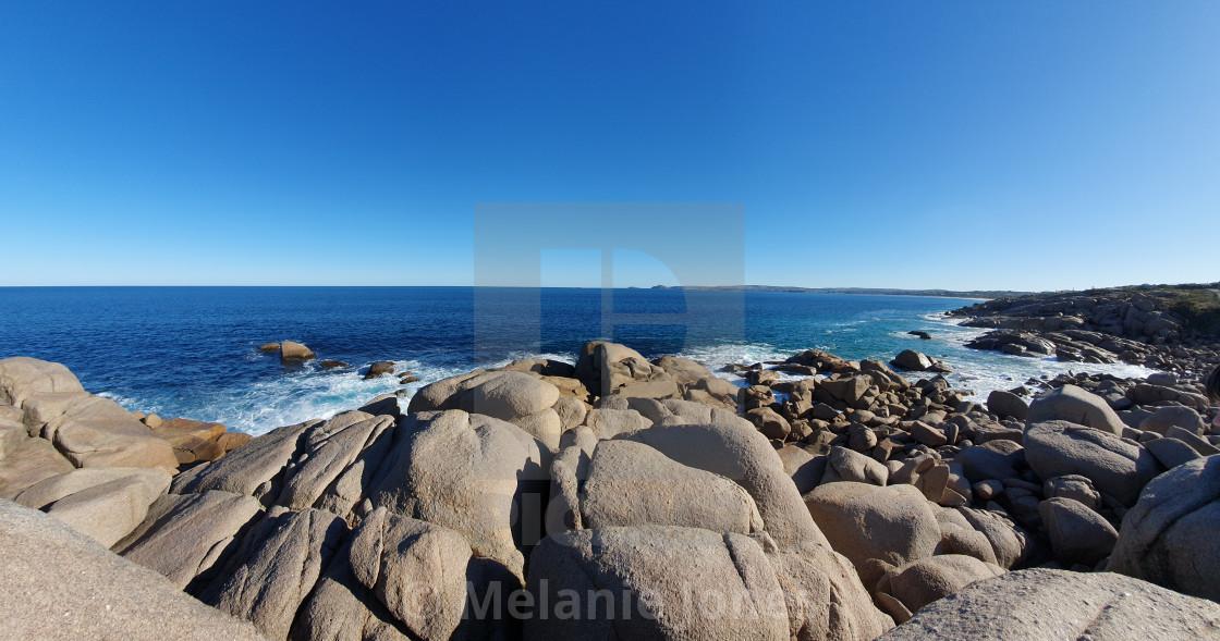 """Rocky Bay Port Elliot South Australia"" stock image"