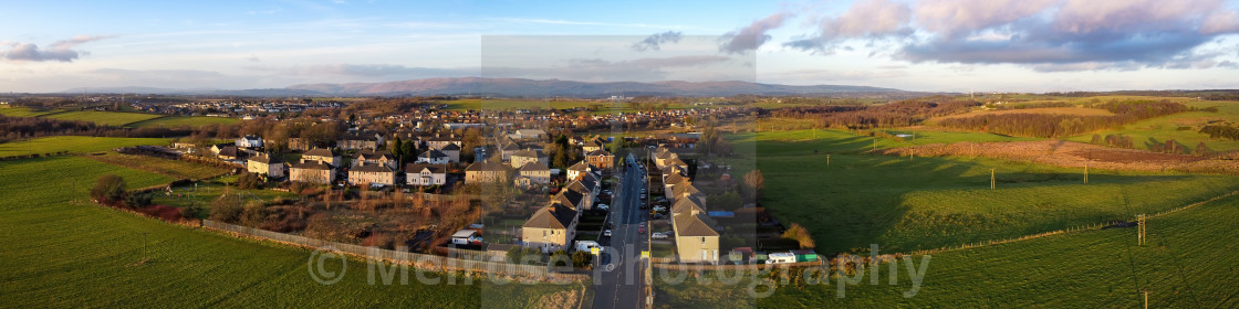 """Ramon entering the village of Glenboig"" stock image"