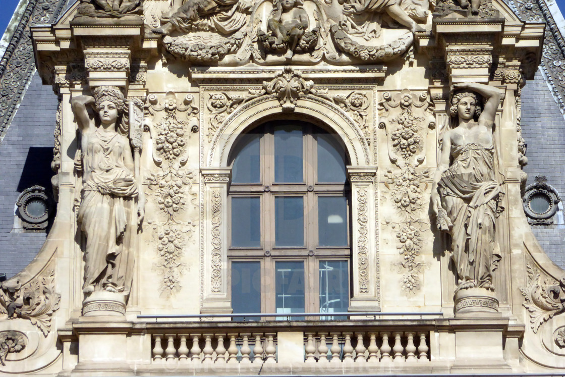 """""""Caryatides in Paris"""" stock image"""