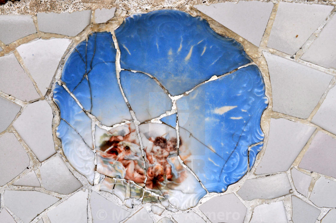 """Angels mosaic art"" stock image"