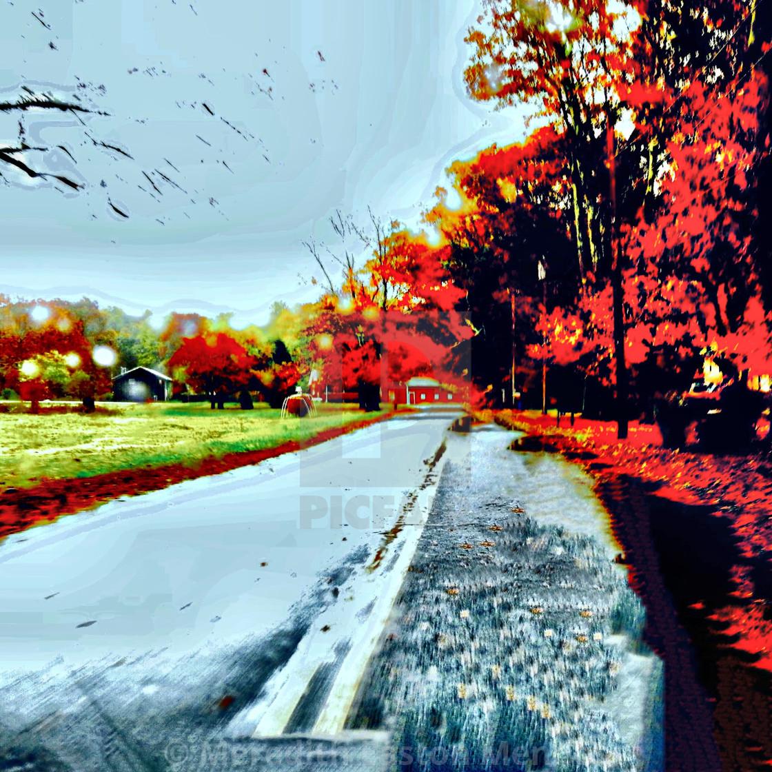 """Rainy Sunday Drive"" stock image"