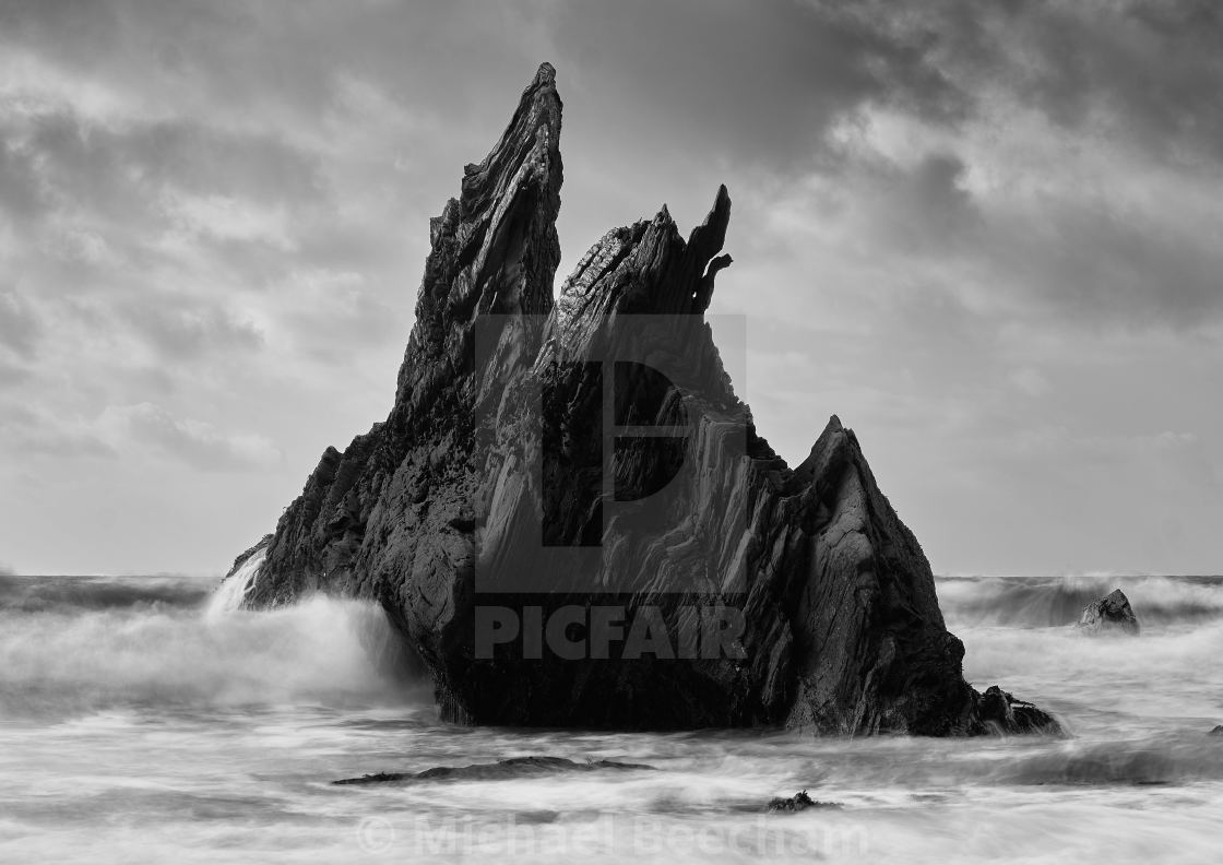 """""""Rocks at Ayrmer Cove - 1"""" stock image"""