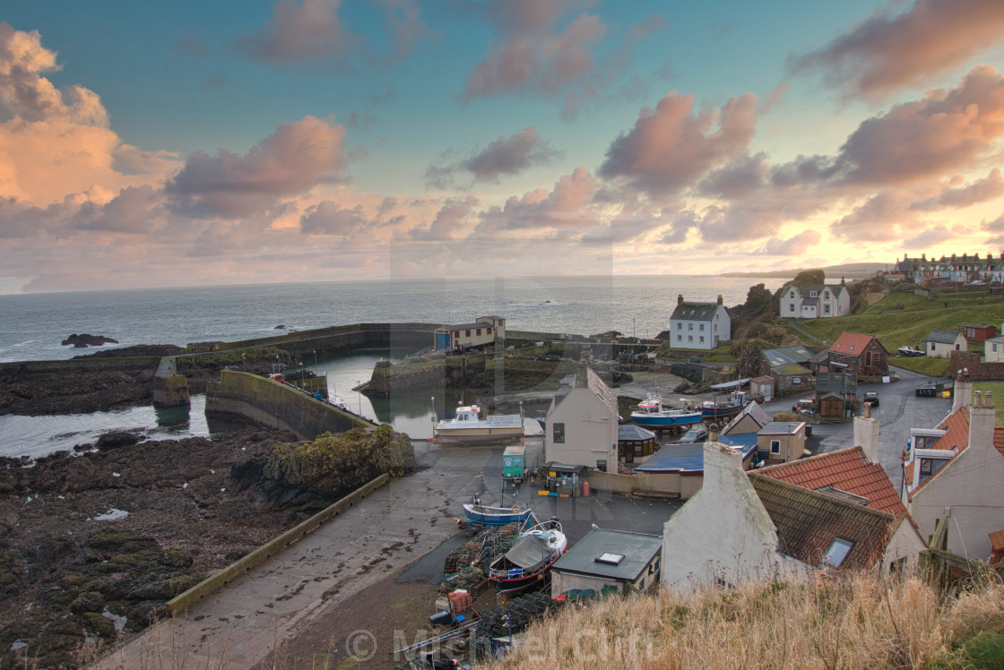 """""""St Abbs Harbour"""" stock image"""