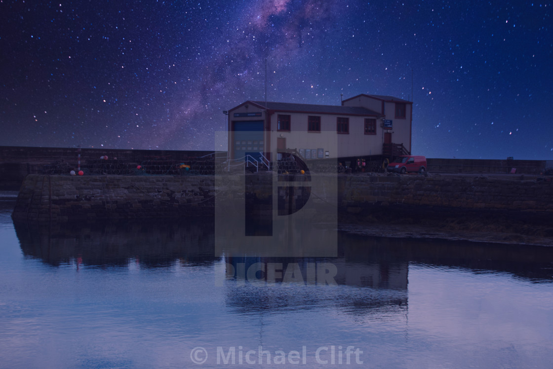 """""""St Abbs Independent Lifeboat House"""" stock image"""