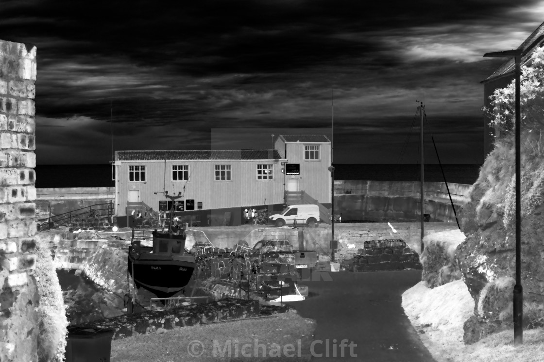 """""""St Abbs Lifeboat House"""" stock image"""