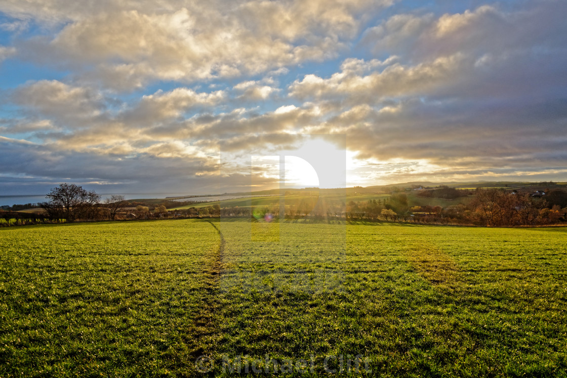 """""""Across the Field."""" stock image"""
